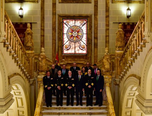 Fundación Iberdrola and the Spanish Navy inaugurate the lighting of the monumental staircase in the Navy General Headquarters in Madrid